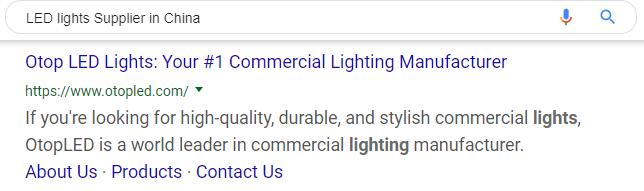 LED lights Supplier in China