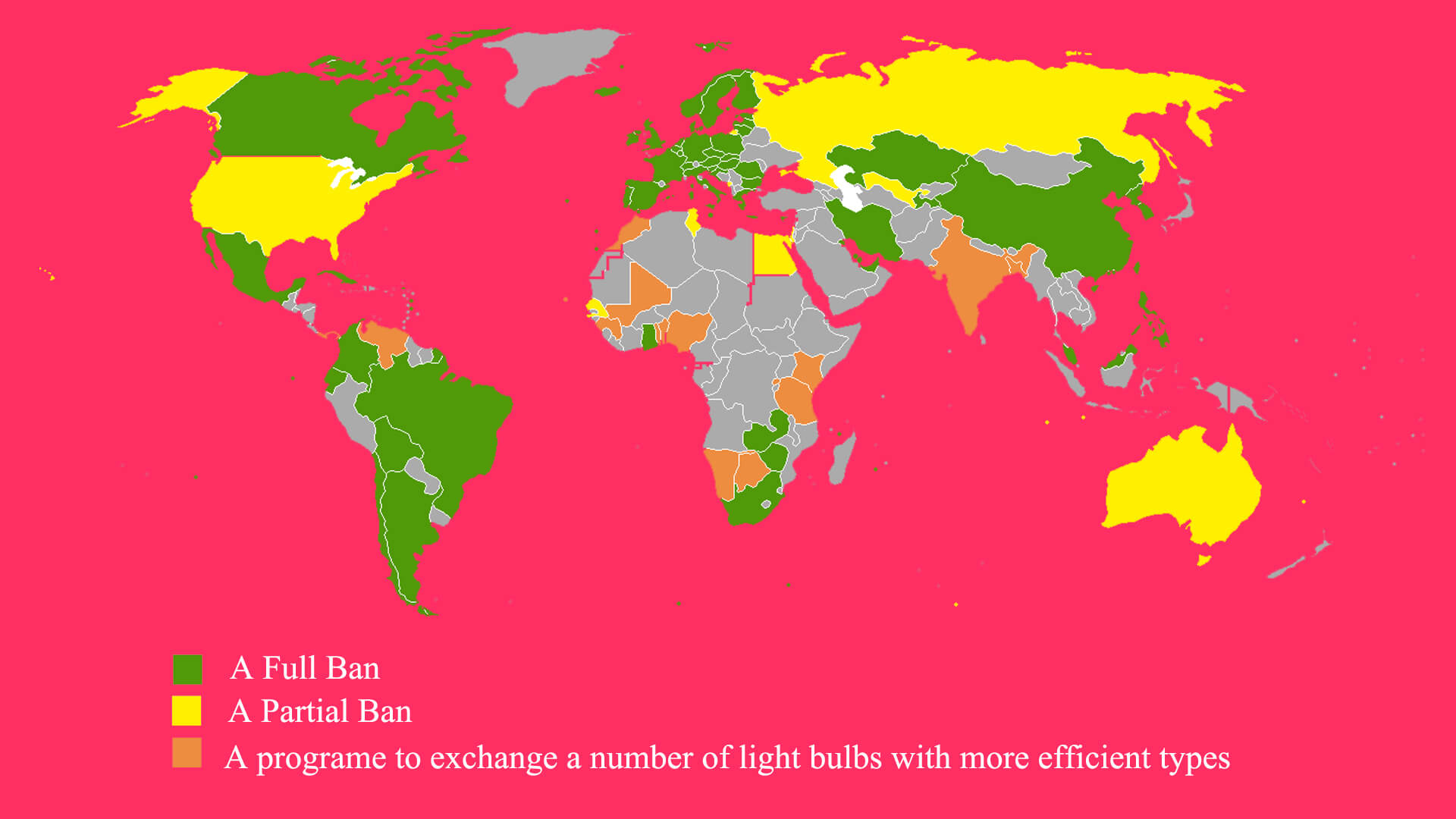Incandescent Ban Map